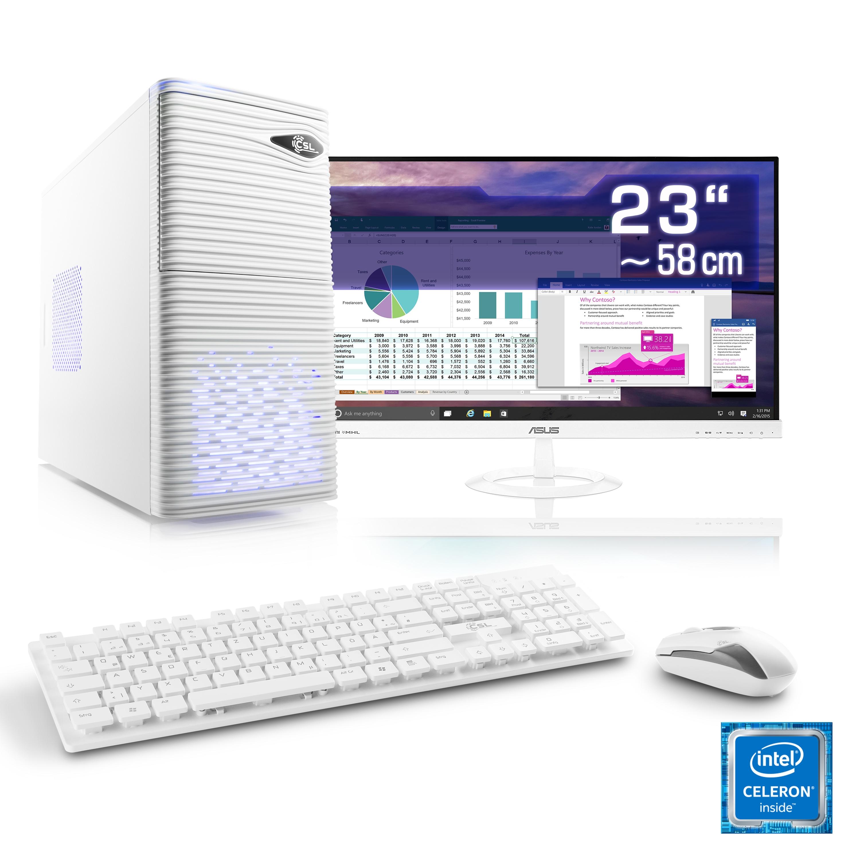 csl office pc set intel quadcore intel hd 8 gb ram. Black Bedroom Furniture Sets. Home Design Ideas