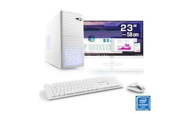 "CSL Office PC Set   Intel QuadCore   Intel HD   8 GB RAM   23"" TFT »Speed T1912 Windows 10 Home« kaufen"