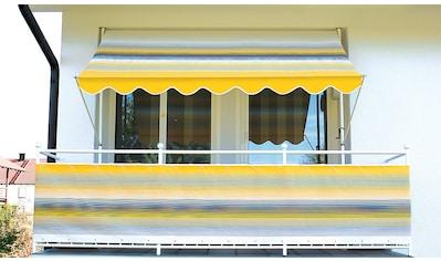 ANGERER FREIZEITMÖBEL Klemmmarkise gelb - grau, Ausfall: 150 cm, versch. Breiten kaufen