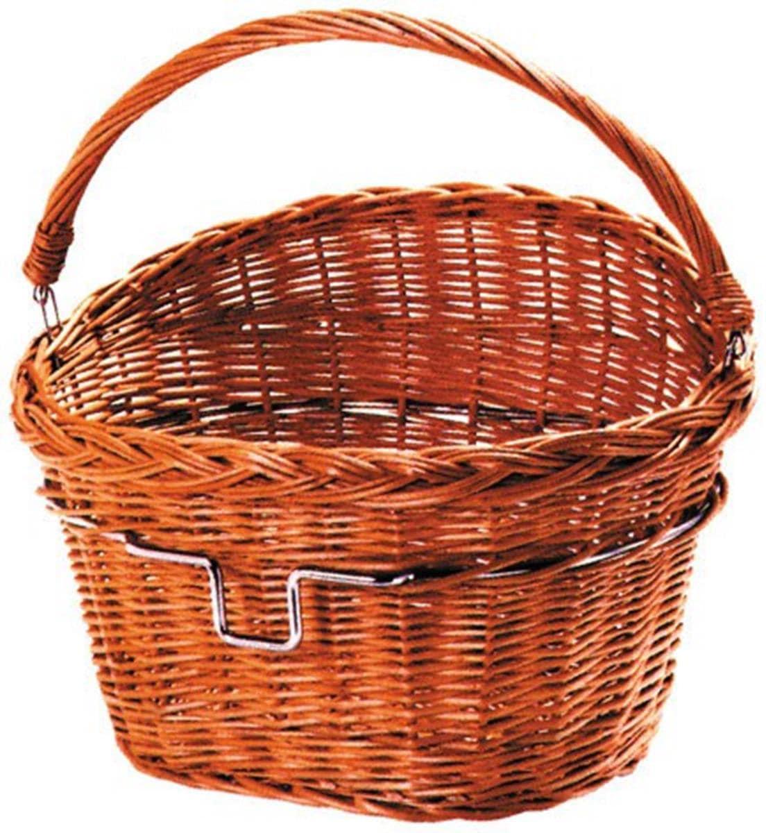 KlickFix Fahrradkorb Vorderradkorb Weidenkorb, braun