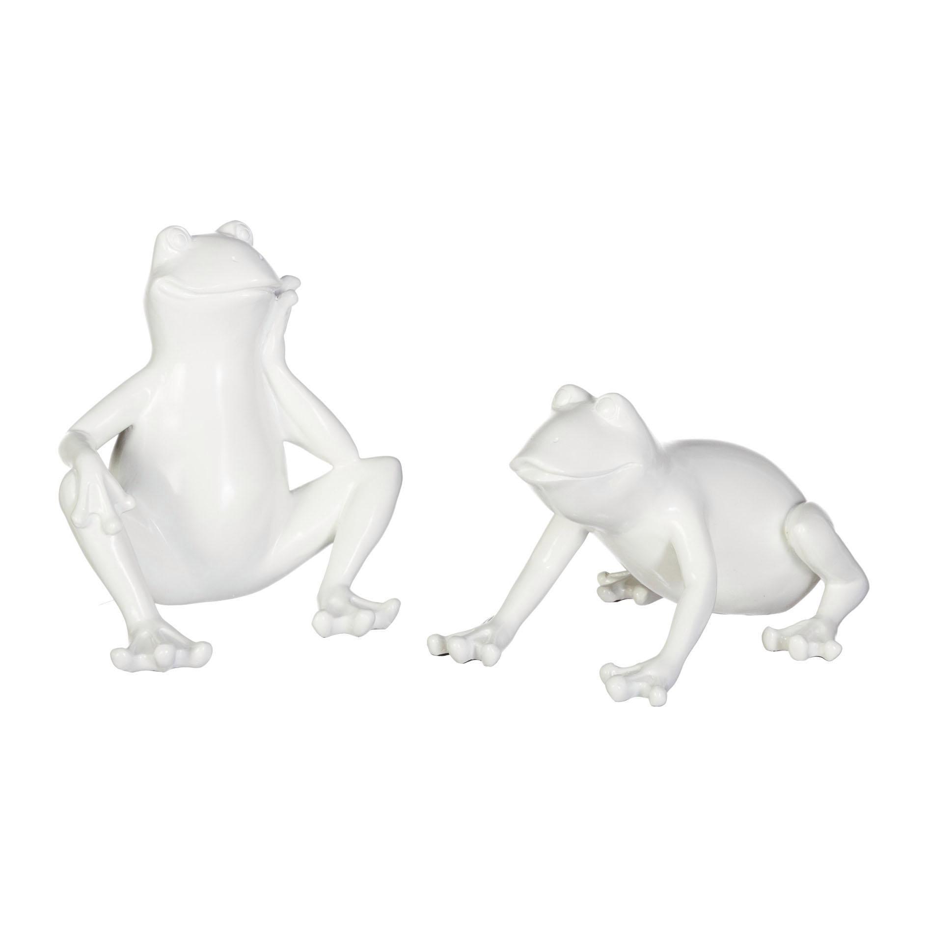 Creativ home Tierfigur, 2er Set weiß Tierfiguren Figuren Skulpturen Wohnaccessoires Tierfigur