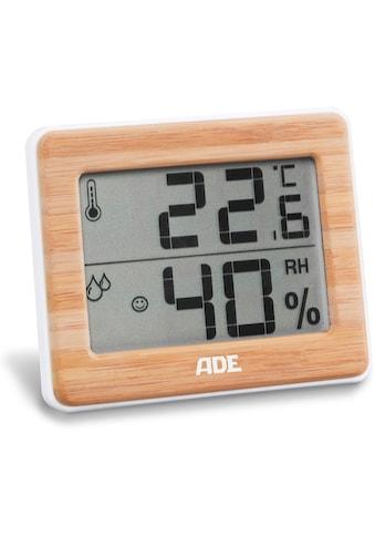 ADE Innenwetterstation »WS 1702«, Thermo-Hygrometer kompakt mit Bambus-Rahmen kaufen
