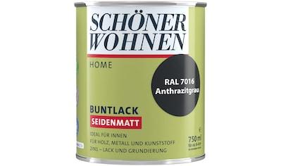 SCHÖNER WOHNEN-Kollektion Lack »Home Buntlack«, seidenmatt, 750 ml, anthrazitgrau RAL 7016 kaufen