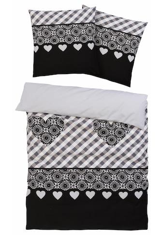 CASATEX Bettwäsche »Isar«, mit Herzen und Karos kaufen