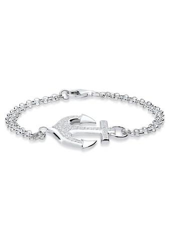 Elli Armband »Anker Zirkonia 925 Sterling Silber« kaufen