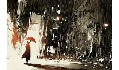 queence Leinwandbild »Frau im Regen« kaufen