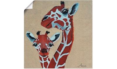 Artland Wandbild »Giraffen«, Wildtiere, (1 St.), in vielen Größen & Produktarten... kaufen