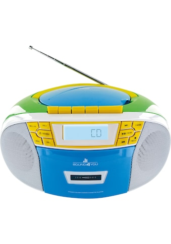 Schwaiger CD-Player mit Radio FM Kasette MP3 USB Anschluss AUX Kopfhörer kaufen
