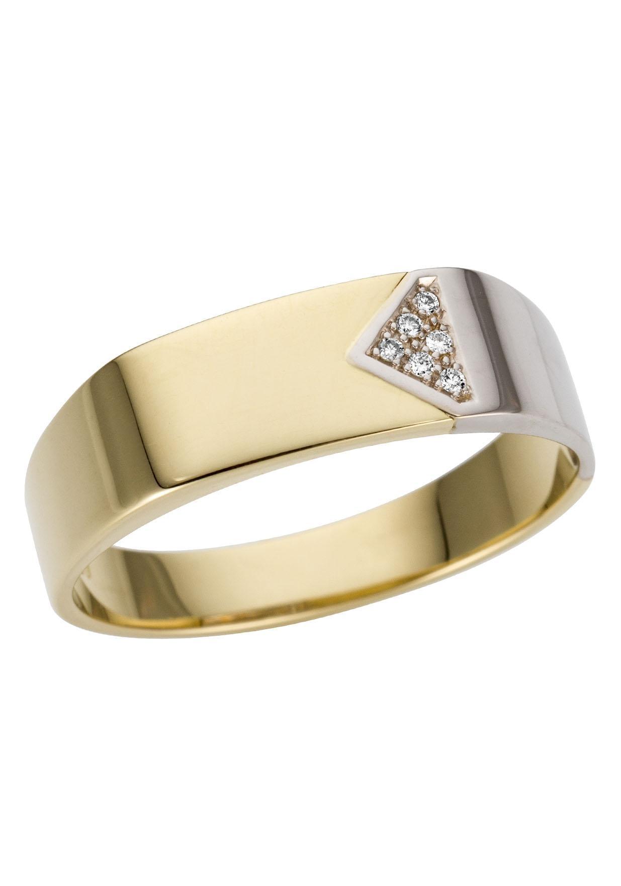 Firetti Goldring Glanz rhodiniert massiv   Schmuck > Ringe > Goldringe   Goldfarben   Firetti
