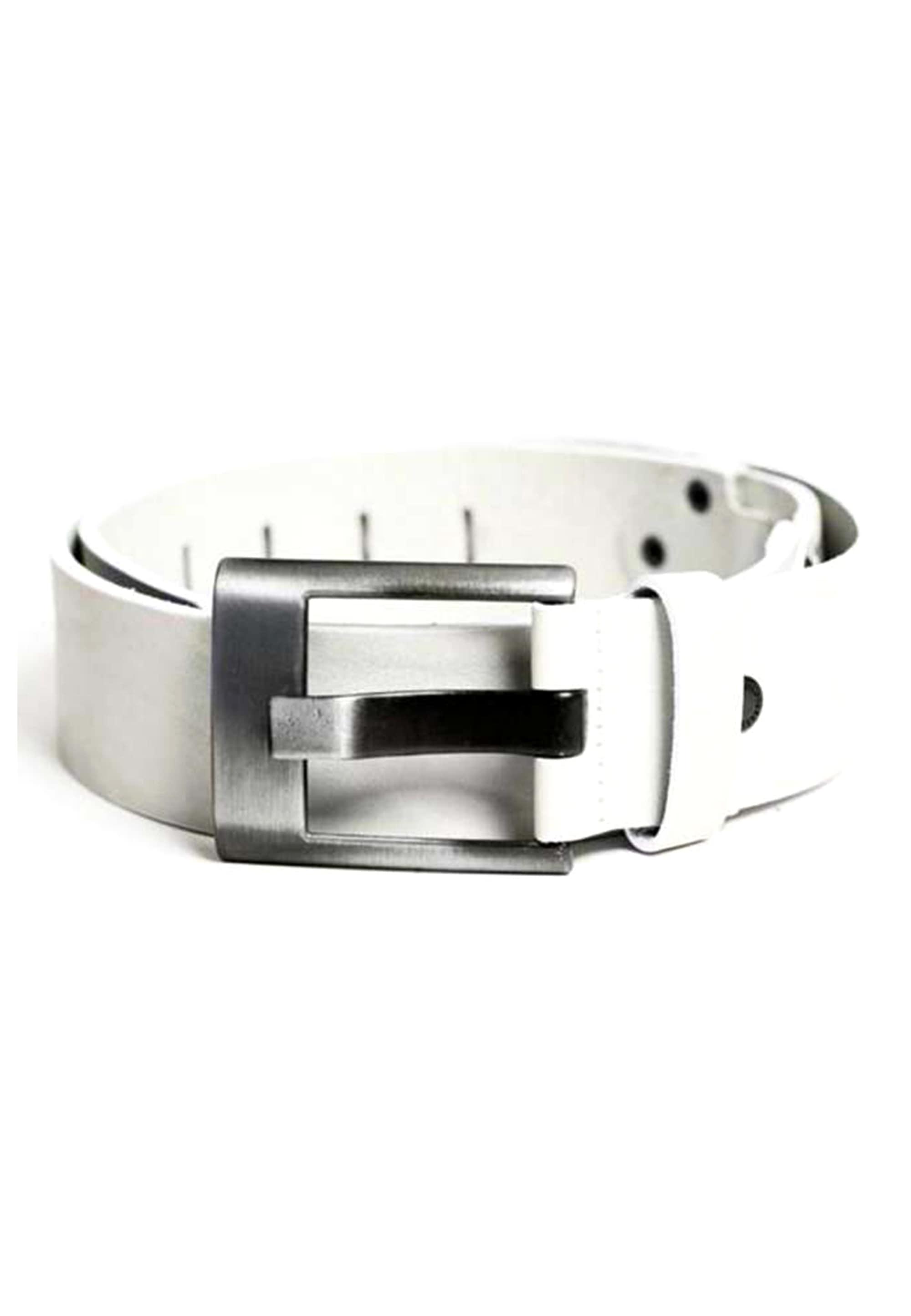 Cipo & Baxx Ledergürtel, mit dezentem Marken-Logo weiß Damen Ledergürtel Gürtel Accessoires 8698819081352