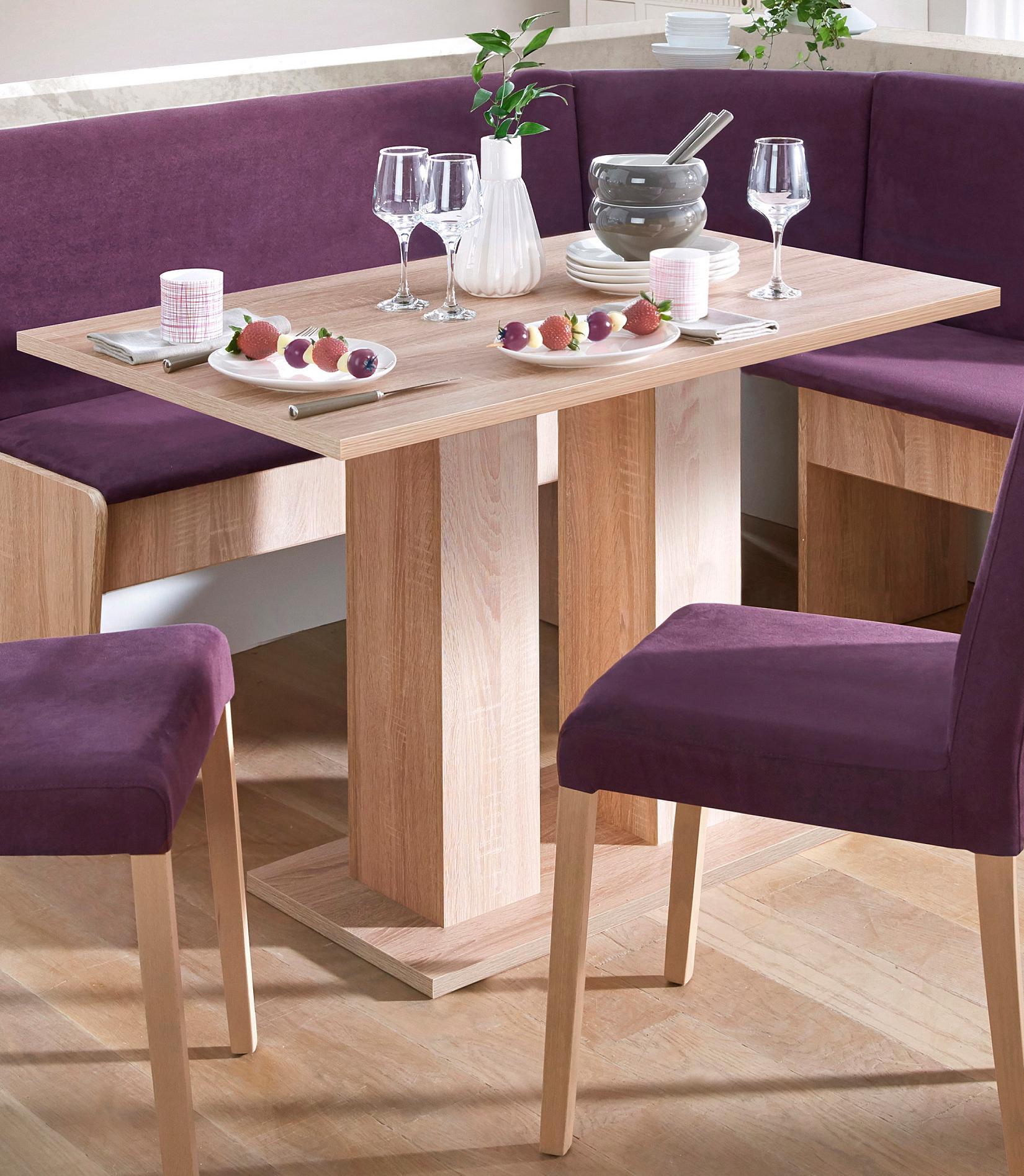 my home Säulen-Esstisch, Breite 68 oder 110 cm braun Säulen-Esstisch Säulentische Esstische Tische