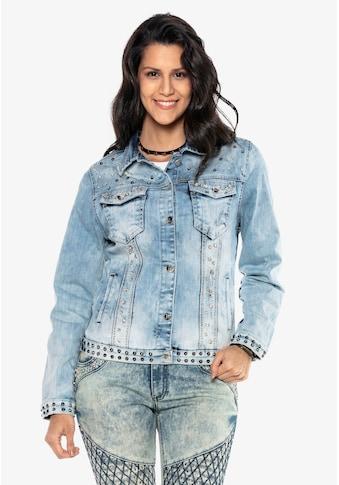 Cipo & Baxx Jeansjacke, mit auffälligen Applikationen kaufen