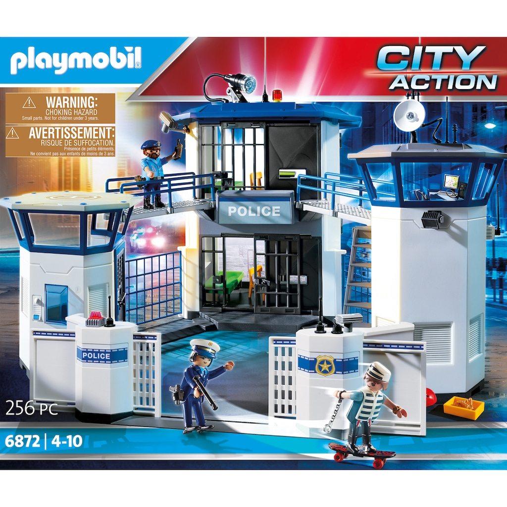 Playmobil® Konstruktions-Spielset »Polizei-Kommandozentrale mit Gefängnis (6872), City Action«, Made in Germany