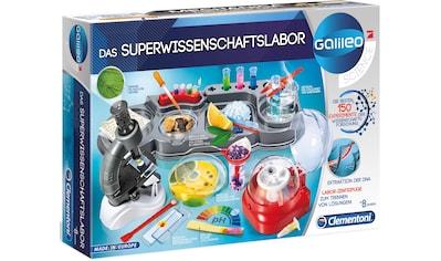 Clementoni® Experimentierkasten »Galileo - Das Superwissenschaftslabor«, Made in Europe kaufen