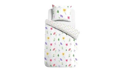 TRAUMSCHLAF Bettwäsche »Blumengarten«, Sommerbettwäsche mit romantischem Design kaufen