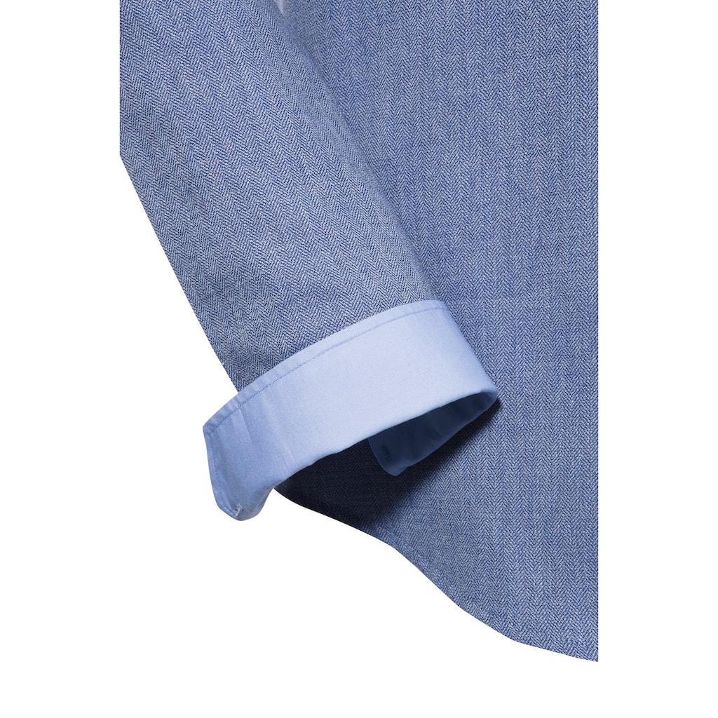 OS-Trachten Trachtenhemd, in Denimoptik