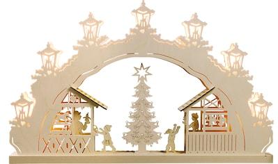 Weigla LED Schwibbogen »Weihnachtsmarkt«, 1 tlg., 7-flammig kaufen