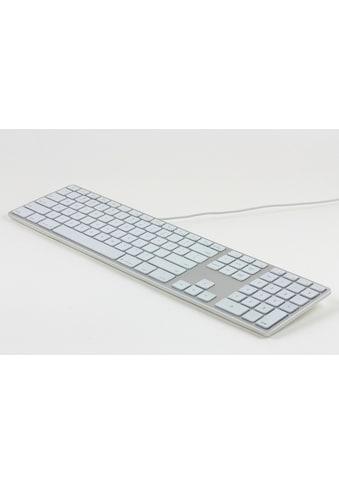 matias USB Aluminiumtastatur mit Nummernblock »Aluminium Erweiterte USB Tastatur DE für Mac OS« kaufen