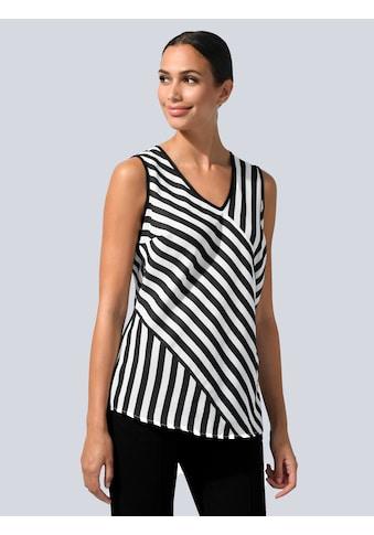 Alba Moda Shirttop, im Streifen Dessin kaufen
