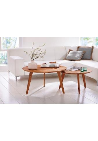 Premium collection by Home affaire Beistelltisch »Olpe«, aus Massivholz, hochwertig... kaufen