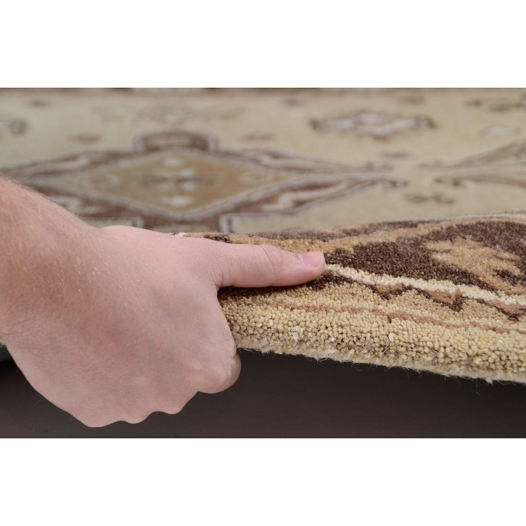THEKO Wollteppich »Royal Kazak«, rechteckig, 14 mm Höhe, reine Wolle, Orient-Optik, Wohnzimmer