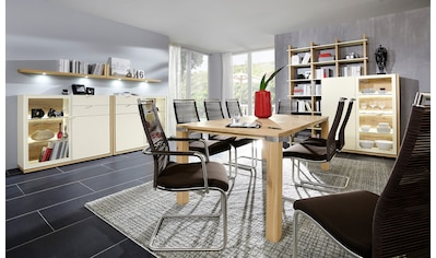 VENJAKOB Kulissentisch »picasa MULTIFLEX«, Massivholz Wildeiche, in 3 Breiten kaufen