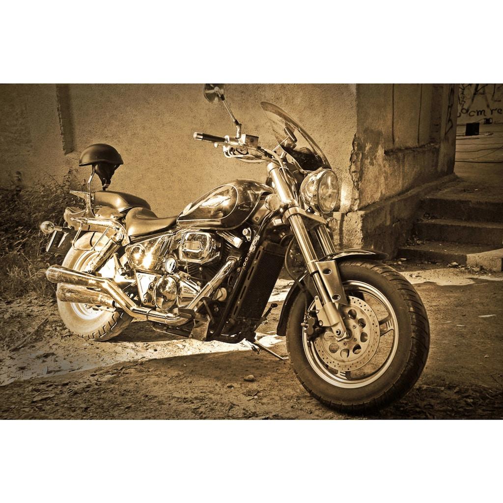 Papermoon Fototapete »Vintage Motorrad.«, Vliestapete, hochwertiger Digitaldruck