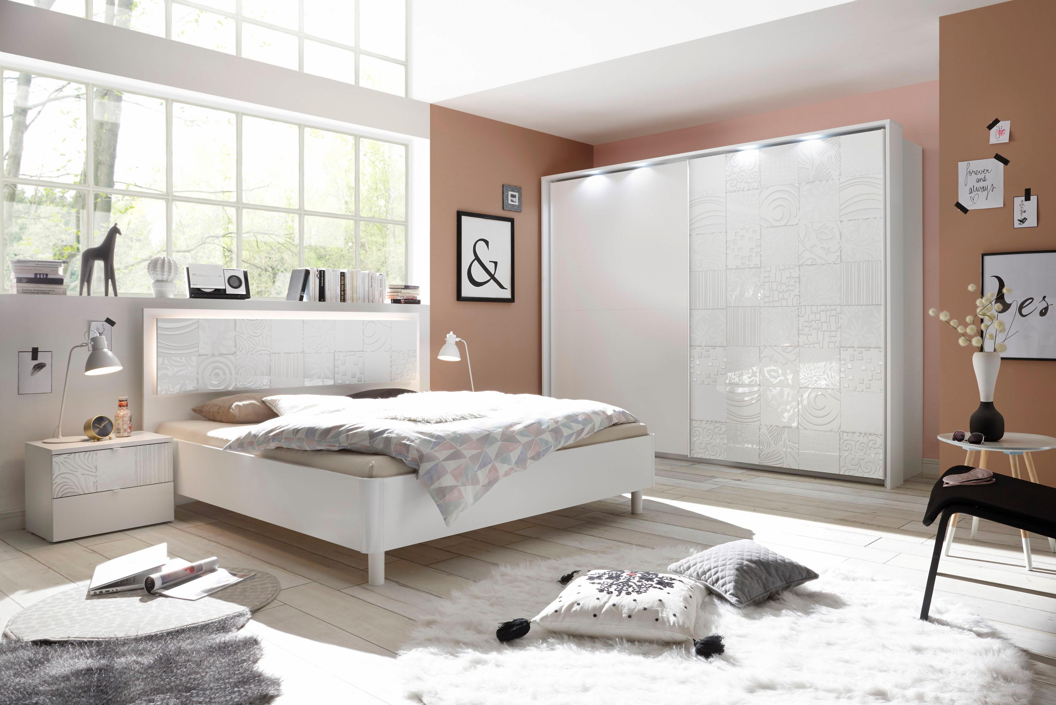 LC Schlafzimmer-Set Miro (Set 4-tlg) | Schlafzimmer > Komplett-Schlafzimmer | Weiß | Lc