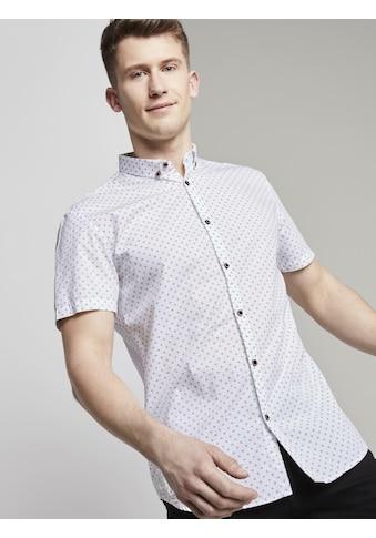 TOM TAILOR Denim Kurzarmhemd »Gepunktetes Hemd« kaufen