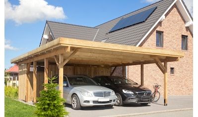 Kiehn-Holz Doppelcarport »KH 103«, Holz, 528 cm, grün, Alu-Dach kaufen