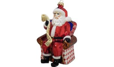 """Krebs Glas Lauscha Christbaumschmuck """"Weihnachtsmann im Sessel"""" (1 - teilig) kaufen"""