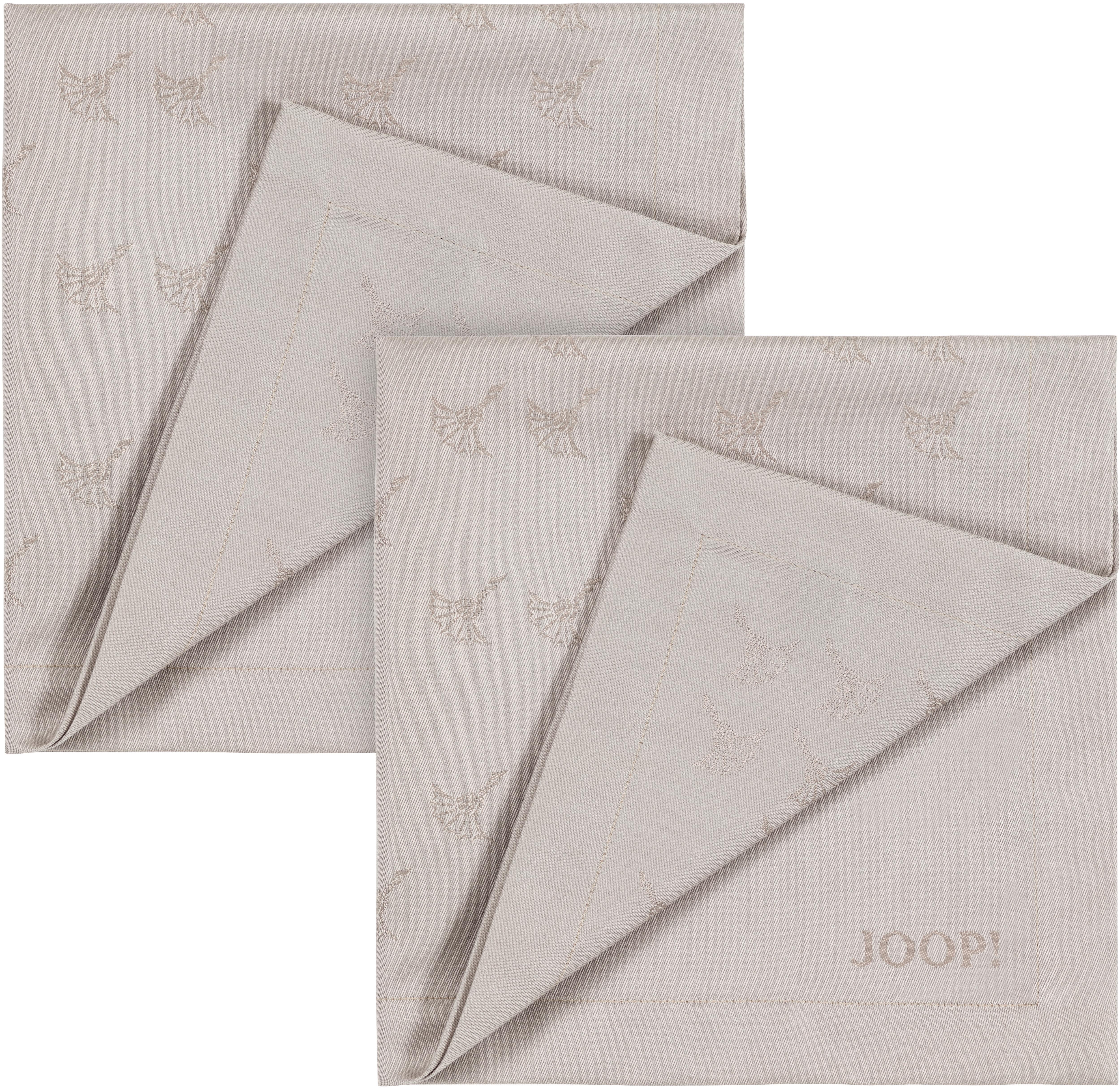 Joop! Joop Stoffserviette FADED CORNFLOWER, (Set, 2 St.), Aus Jacquard-Gewebe gerfertigt mit Kornblumen-Verlauf beige Stoffservietten Tischwäsche