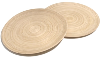 Franz Müller Flechtwaren Pizzateller »Bamboo«, (Set, 2 St.), Bambus kaufen