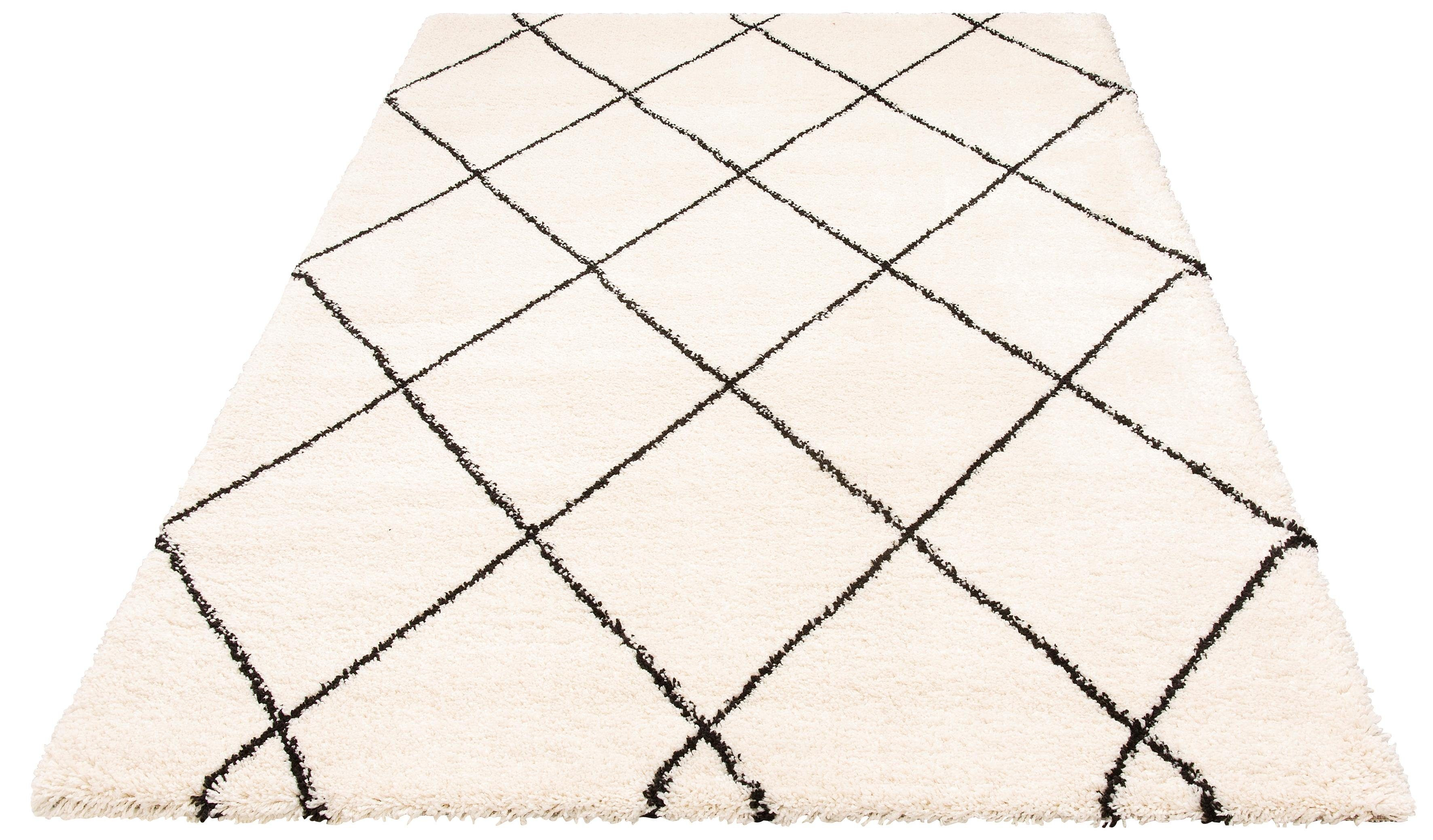 Hochflor-Teppich Belle Leonique rechteckig Höhe 35 mm maschinell gewebt