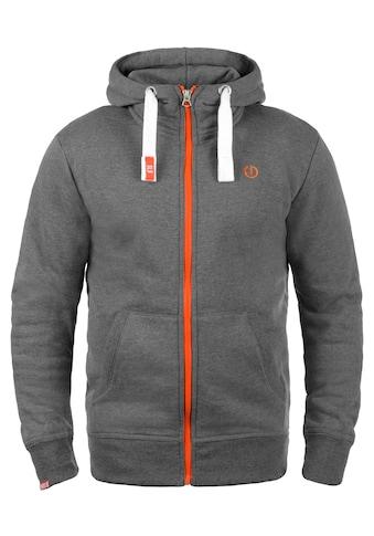 Solid Kapuzensweatjacke »Benn«, Sweatshirtjacke mit hochabschließendem Kragen kaufen