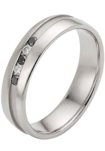 Firetti Trauring mit Gravur »platiniert, glanz, längsgebürstet, Diamantschnitt, 5,0 mm... kaufen