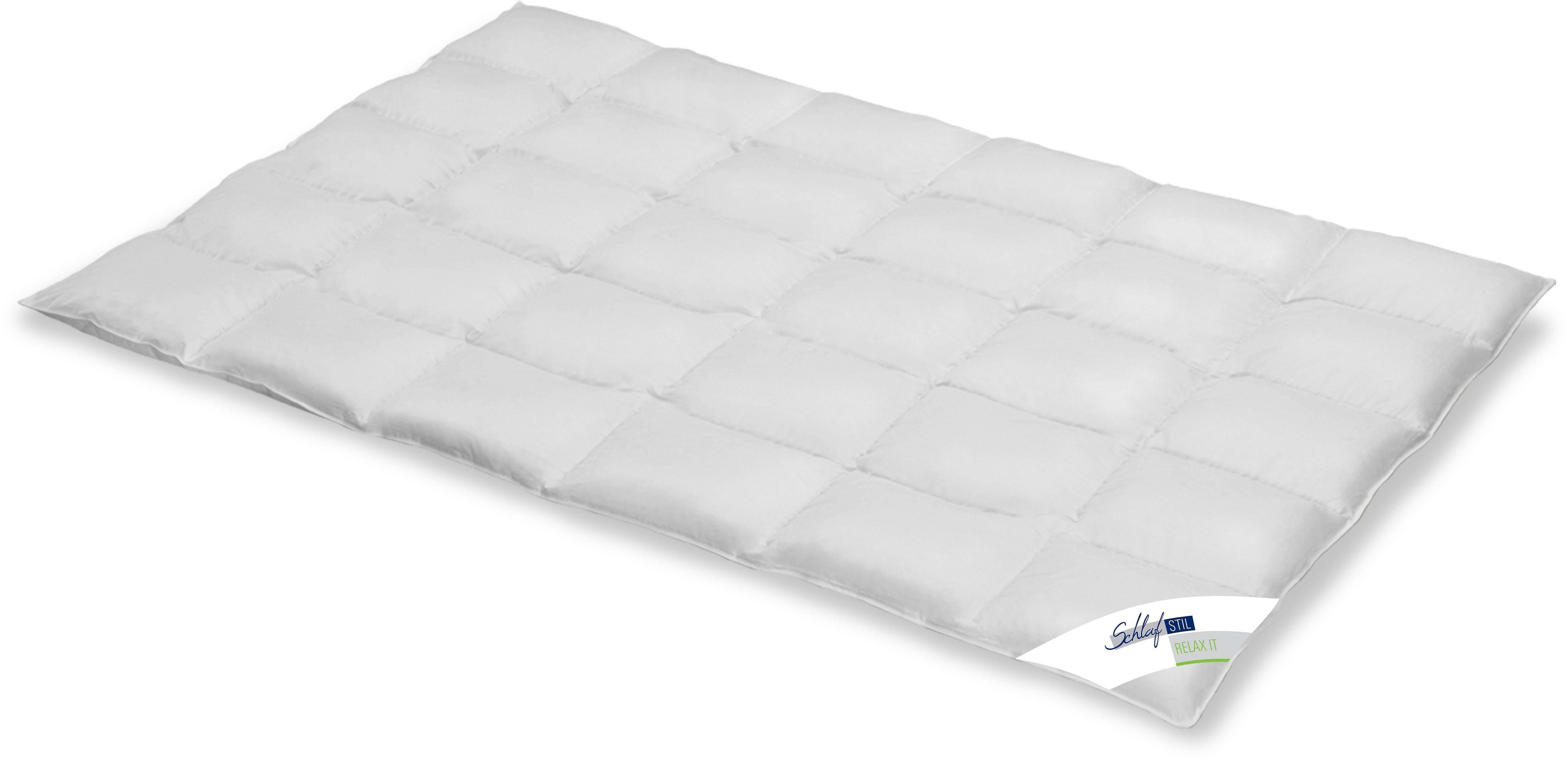 Daunenbettdecke Relax It Schlafstil normal Füllung: 60% Daunen 40% Federn Bezug: 100% Baumwolle