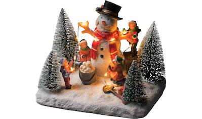 KONSTSMIDE LED Dekolicht, Warmweiß, LED Szenerie Schneemann mit Kindern, 10 warmweiße... kaufen