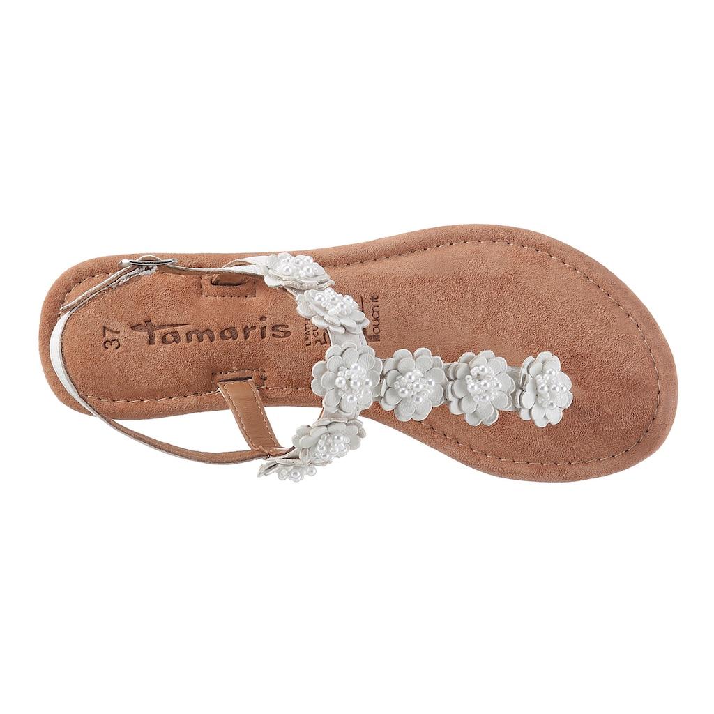 Tamaris Sandale »MINU«, mit schönen Blüten verziert
