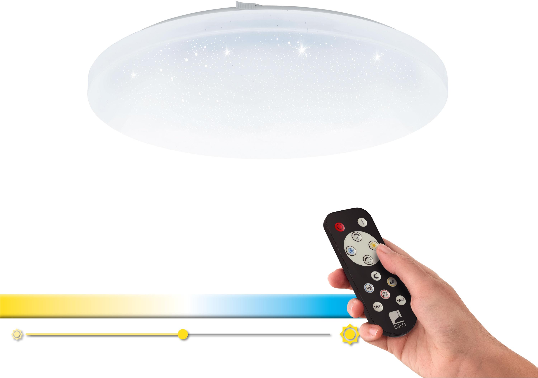 EGLO Deckenleuchte FRANIA-A, LED-Board, Extra-Warmweiß-Kaltweiß-Neutralweiß-Tageslichtweiß-Warmweiß, Steuerung über Fernbedienung, Nachtlicht