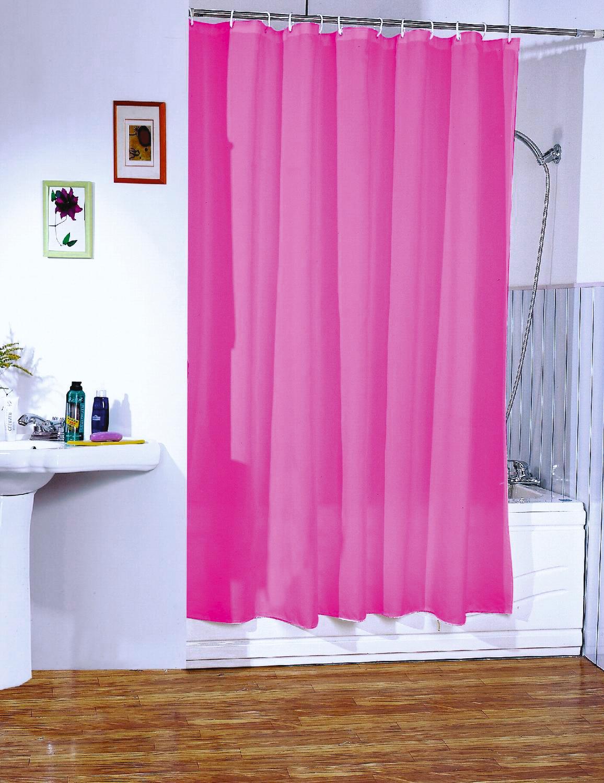 MSV Duschvorhang, Breite 180 cm, Höhe 200 cm rosa Duschvorhang Badmöbel