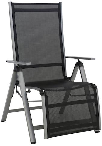 Greemotion Gartensessel »Monza Comfort XL«, Alu/Textil, verstellbar, schwarz kaufen