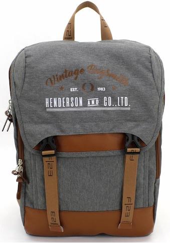 F23™ Laptoprucksack »Henderson & Co 17 L  -  grau meliert« kaufen
