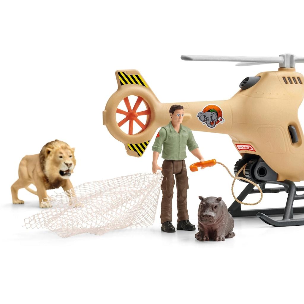 Schleich® Spielwelt »Wild Life, Helikopter Tierrettung (42476)«, Made in Europe