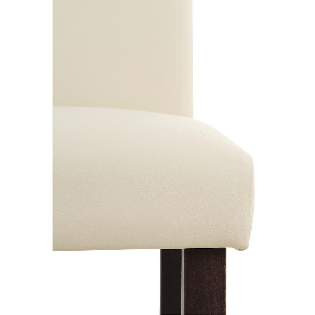 Home affaire 4-Fußstuhl »Rubin«, Im 2er, 4er oder 6er-Set, mit honigfarbenen oder dunkelbraunen Beinen