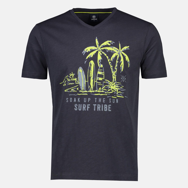lerros -  T-Shirt Soak up the sun, mit Surfprint auf der Brust
