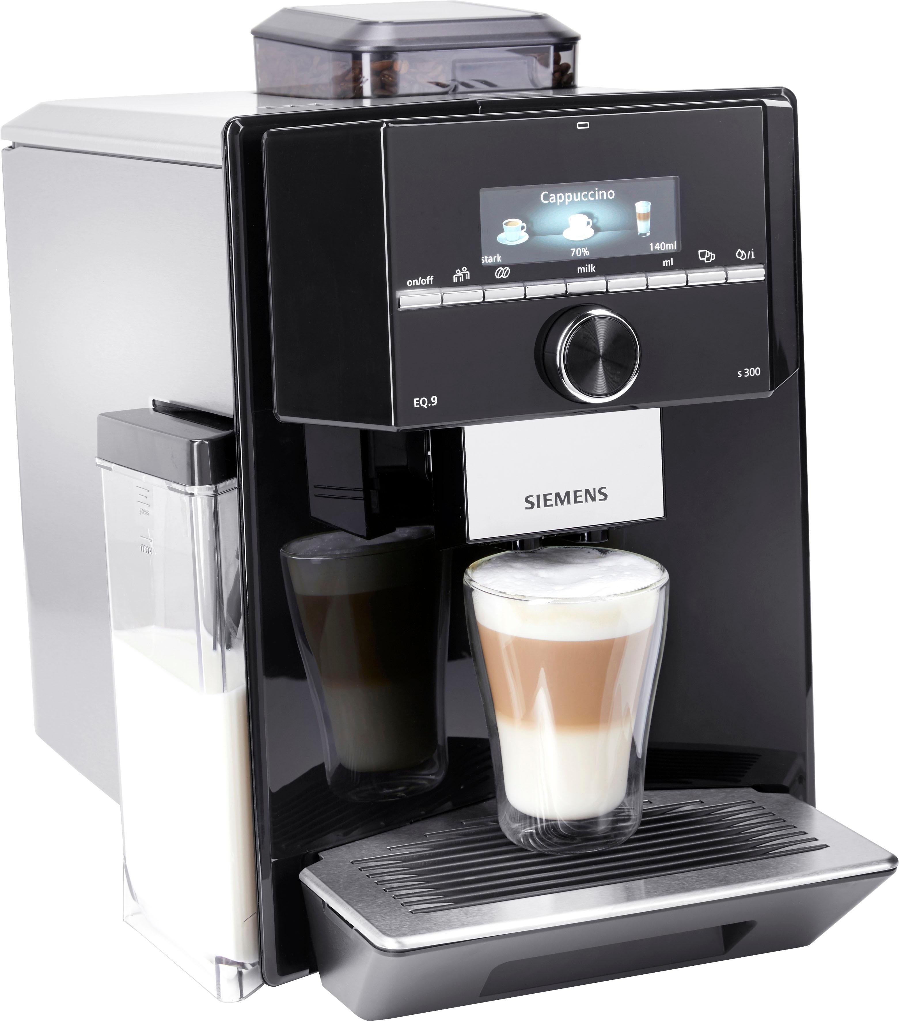 SIEMENS Kaffeevollautomat Kaffeevollautomat EQ9 s300 TI923509DE 23l Tank Scheibenmahlwerk Technik & Freizeit/Elektrogeräte/Haushaltsgeräte/Kaffee & Espresso/Kaffeevollautomat