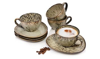 SÄNGER Tasse »Pompei«, (8 tlg., Teetassen Pompei aus Porzellan 8 teilig) kaufen