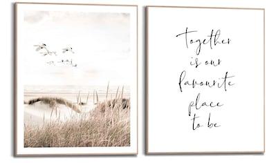 Reinders! Wandbild »Kraniche Freiheit - Strand - Dünen - Liebe - Familien - Zusammen«,... kaufen