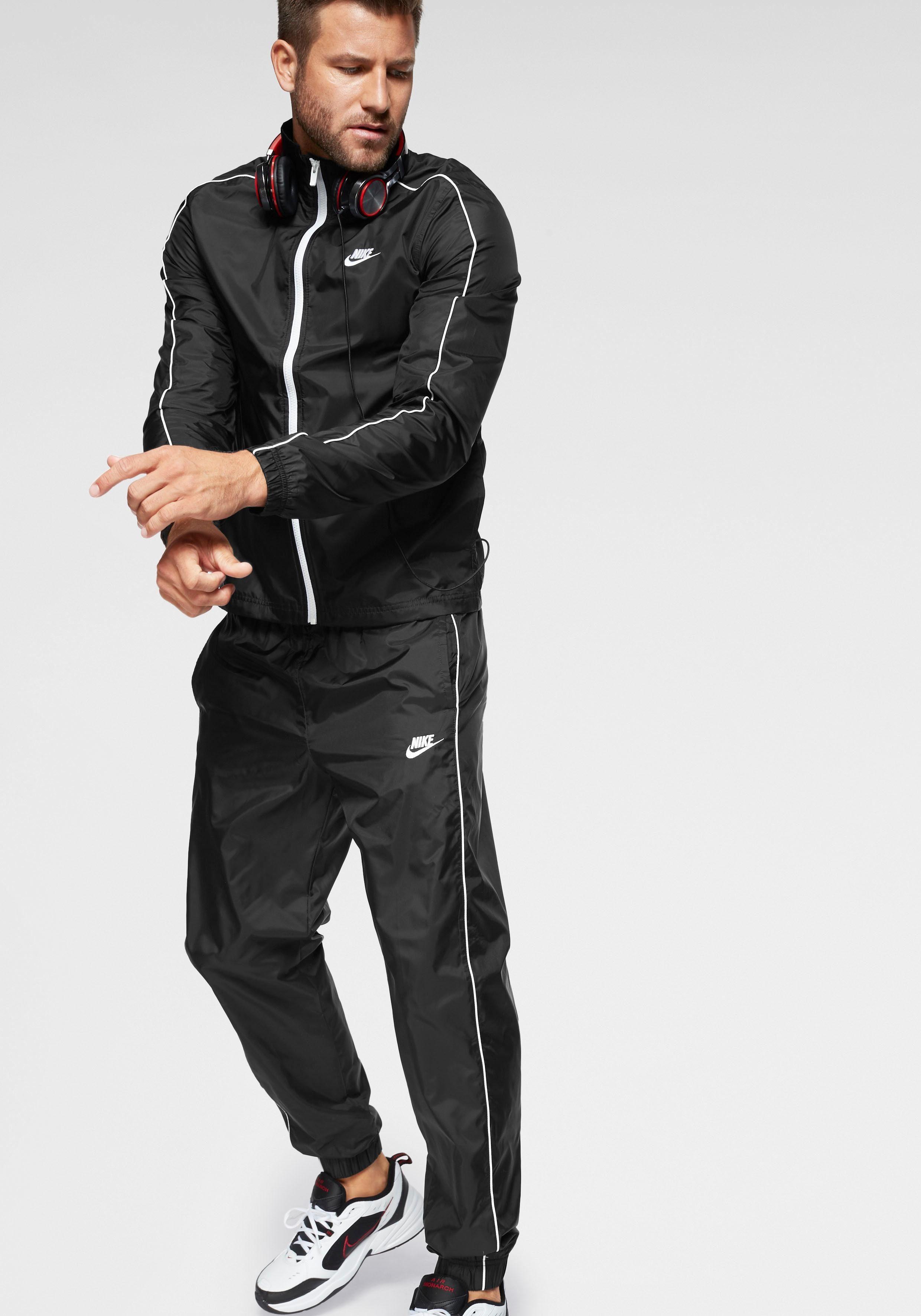 beste Auswahl an meistverkauft Details für Nike Sportswear Trainingsanzug »M NSW CE TRK SUIT WVN BASIC« (Set, 2 tlg.)  online bestellen | BAUR